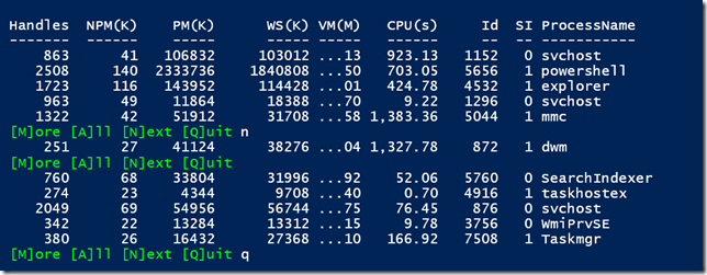 More PowerShell Output