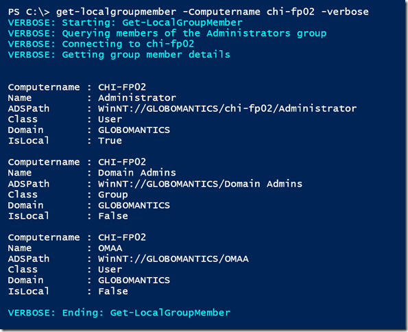 Get Local Group Members with PowerShell • The Lonely Administrator