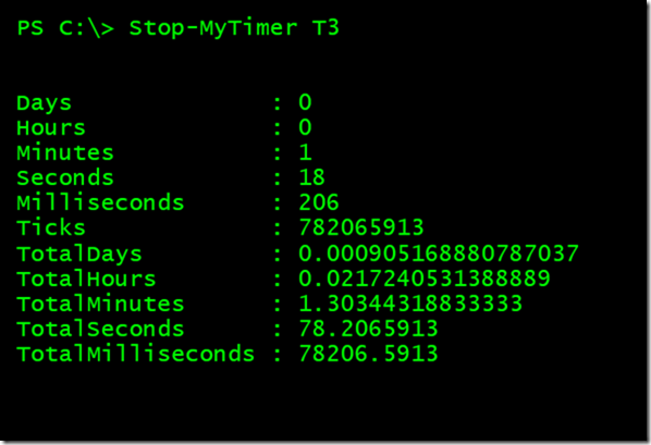 Stopping a timer