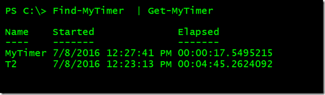 """Getting the current state of the """"timer"""""""