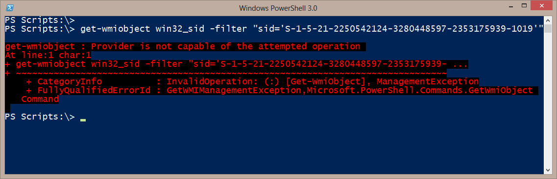 Resolving SIDs with WMI, WSMAN and PowerShell • The Lonely