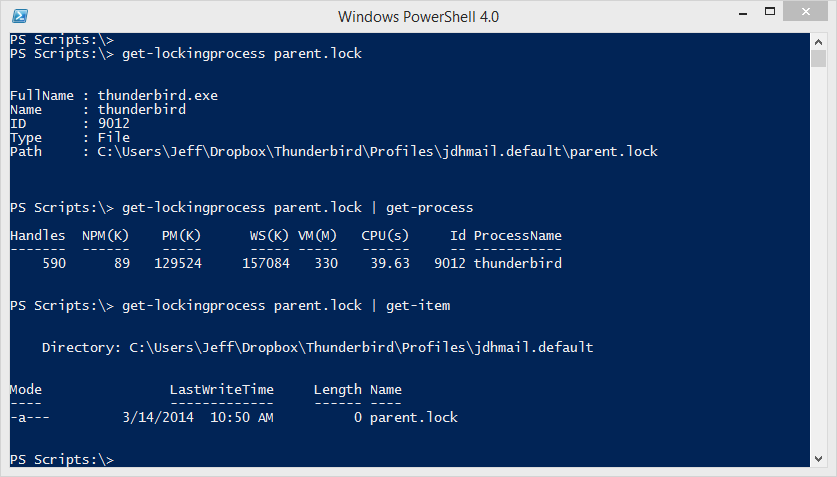Friday Fun: Find File Locking Process with PowerShell • The Lonely