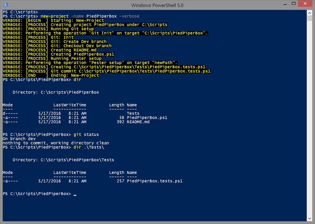 Creating New PowerShell Projects • The Lonely Administrator