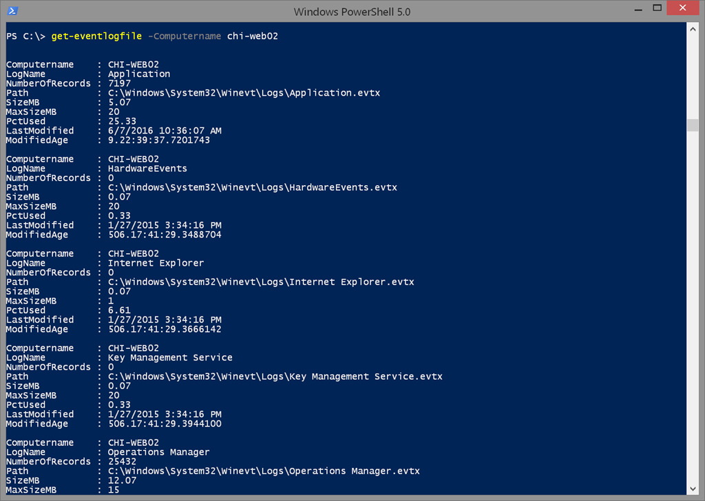 The CIM-ple way with PowerShell and Event Logs • The Lonely