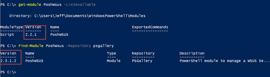Compare PowerShell Modules • The Lonely Administrator