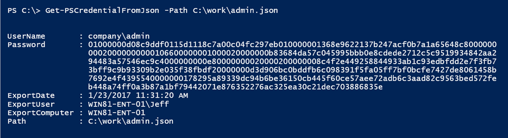 Storing PowerShell Credentials in JSON • The Lonely Administrator