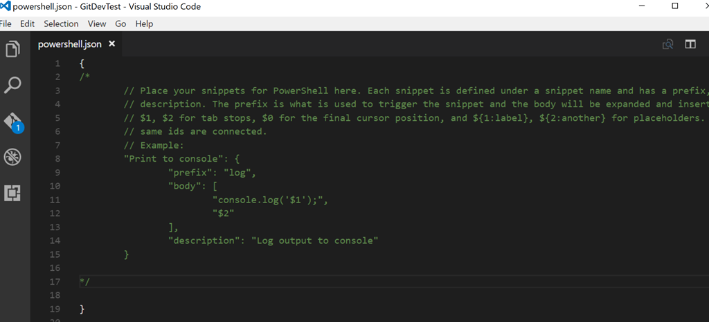 Adding PowerShell Snippets to Visual Studio Code • The