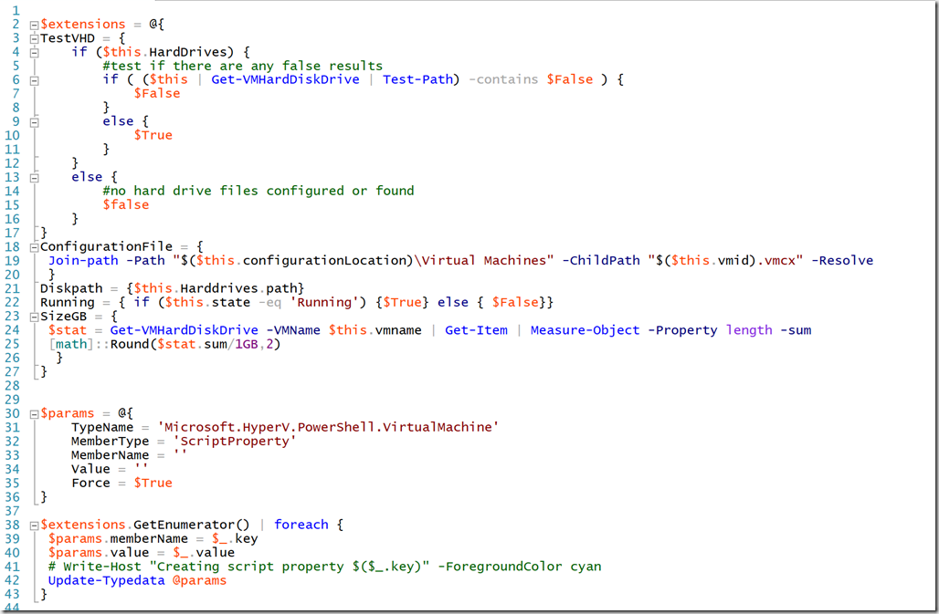 Extending Hyper-V with PowerShell • The Lonely Administrator