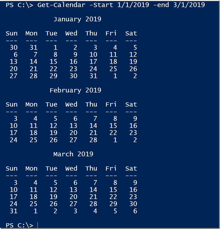 PowerShell Calendaring Revisited • The Lonely Administrator